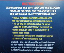 Grip-Bite C-4 Tire Treatment (Blue)
